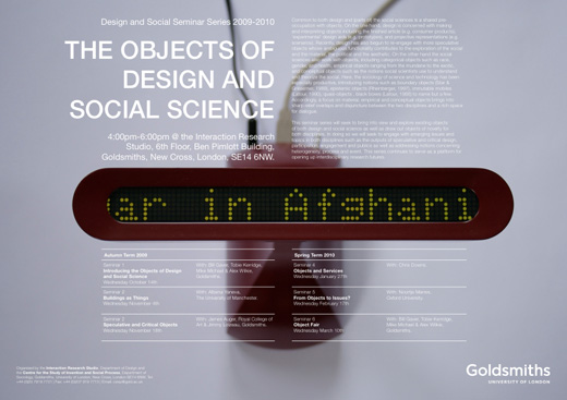 Design and Social Science seminar series